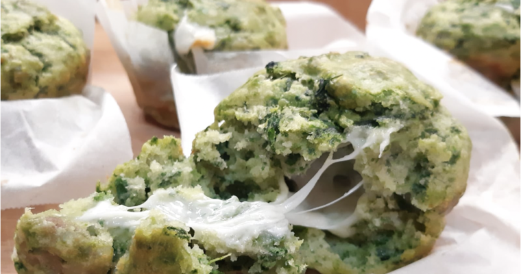 Muffin salati broccoletti salsiccia formaggio