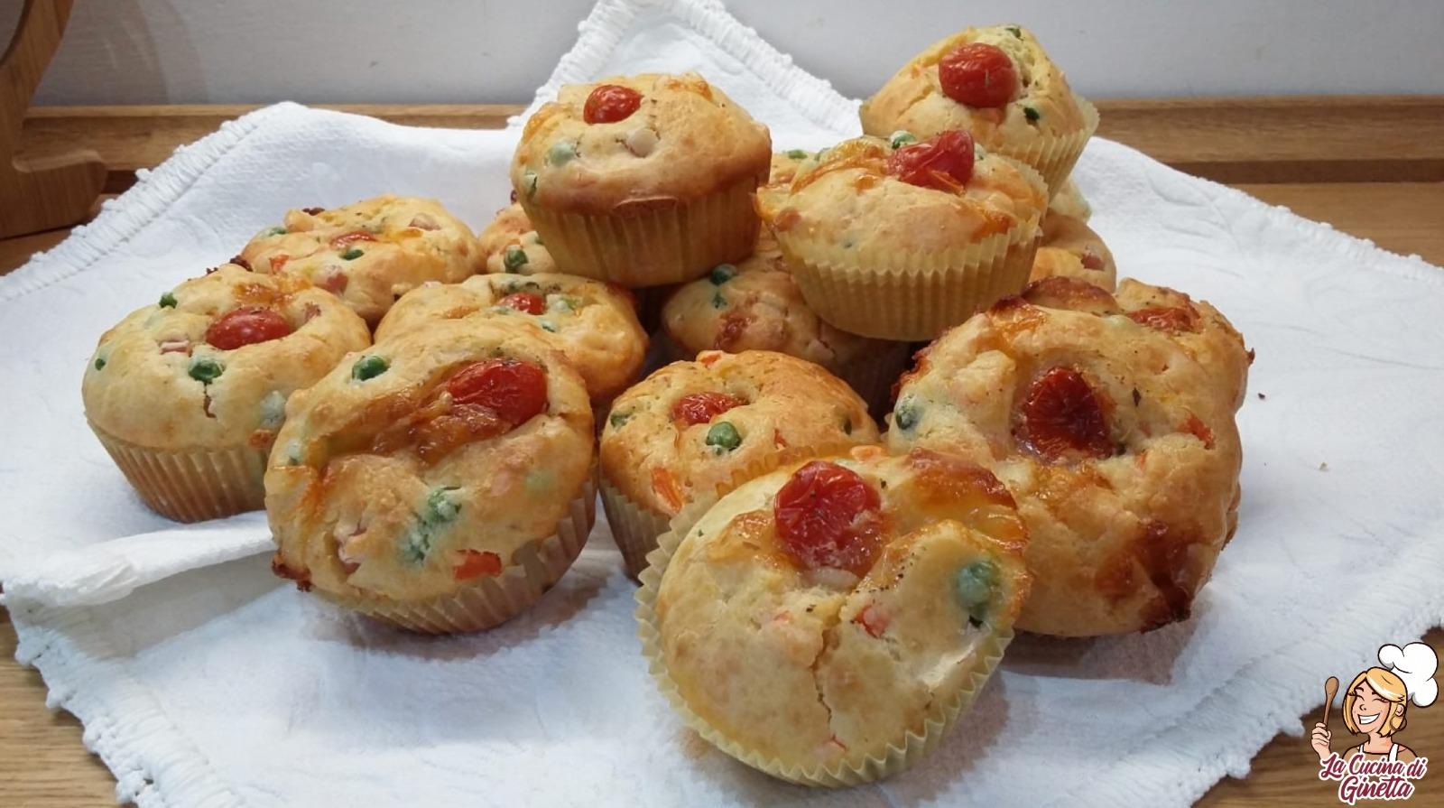 muffin con prosciutto cotto e verdure
