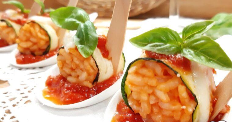 FINGER FOOD DI ZUCCHINE  RISO E POMODORO
