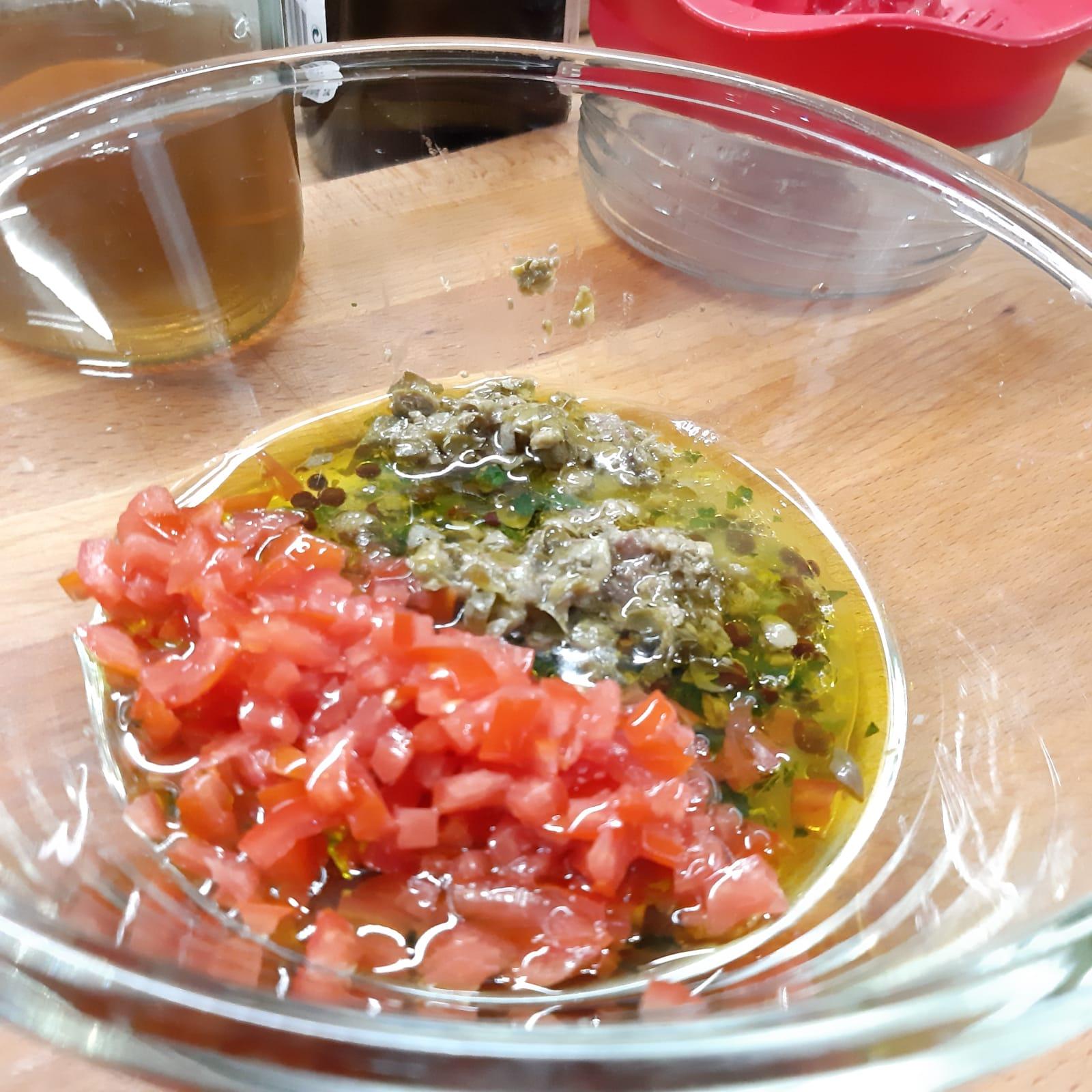 melanzane grigliate ai sapori mediterranei