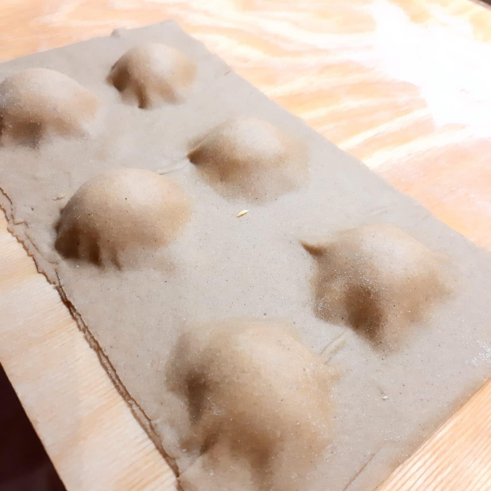 cappellacci alla farina di  castagne con ricotta