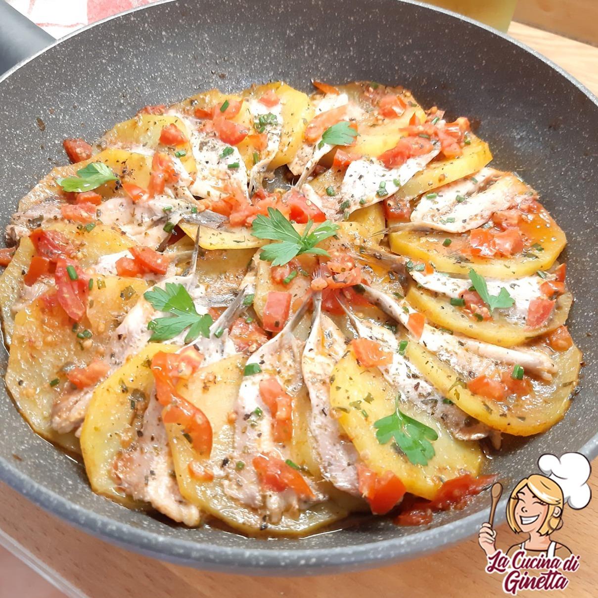 padellata di patate e alici