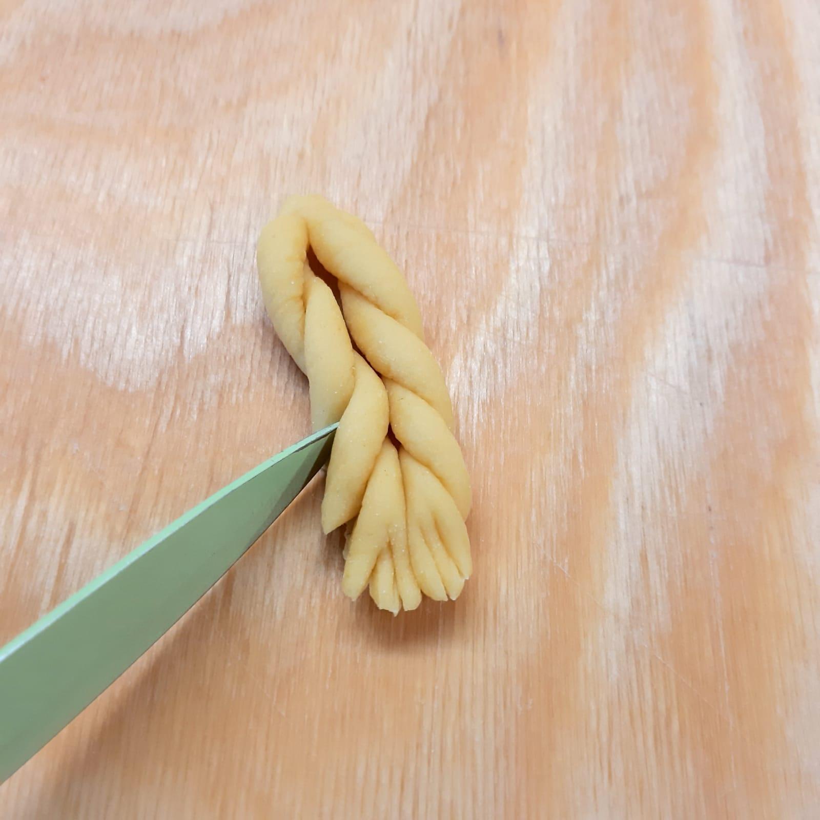 spighe di pasta all'uovo