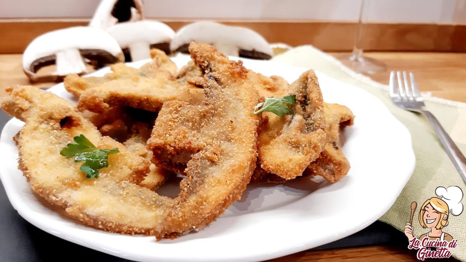 Funghi fritti panati