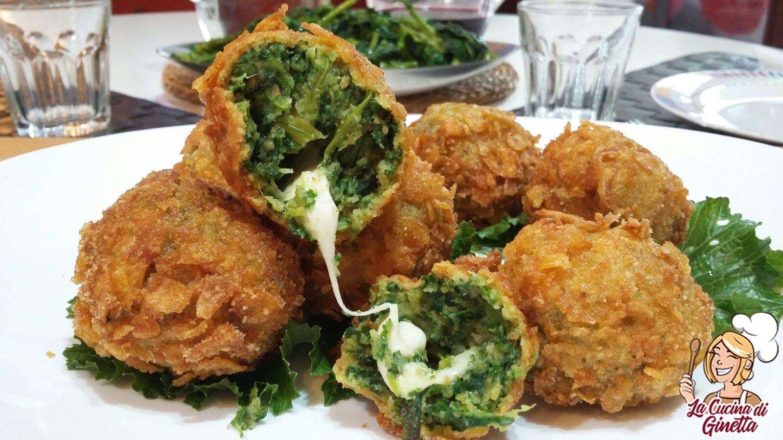 crocchette di broccoletti con cuore di mozzarella