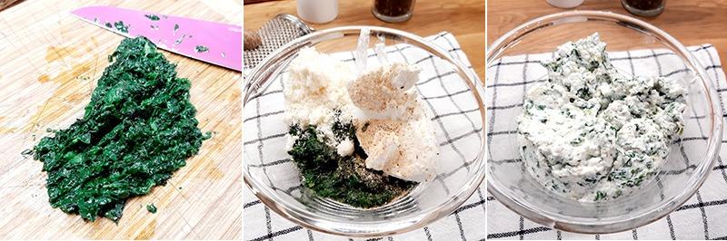 cannelloni di tacchino con ricotta e spinaci