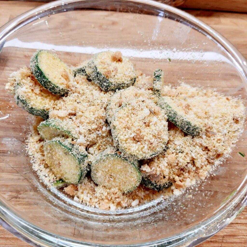 zucchine gratinate croccanti e saporite