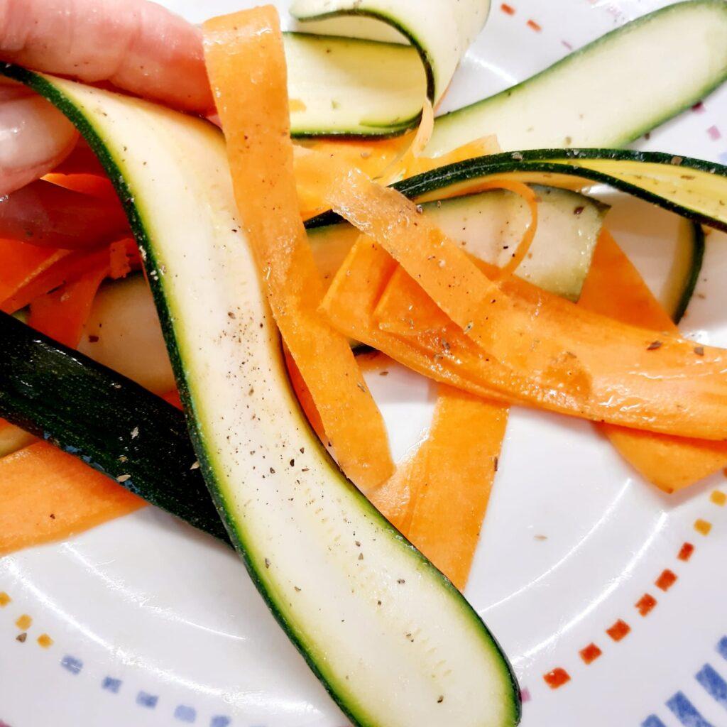 tortine con zucchine carote e prosciutto cotto