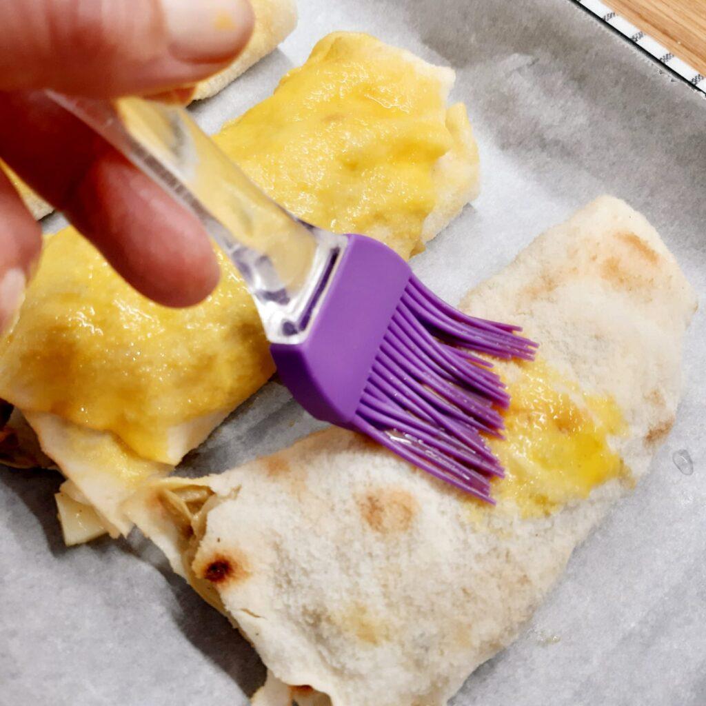 strudel di carciofi con pane carasau