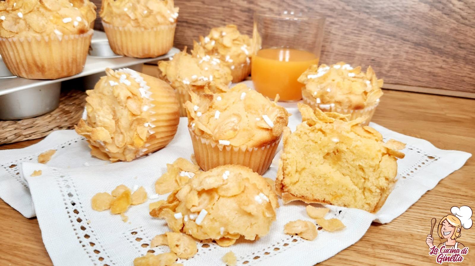muffin con succo ACE e corn flakes